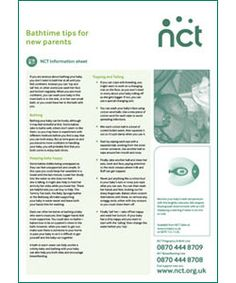 Bathtime tips x 50 - Information Sheet-NCT Shop