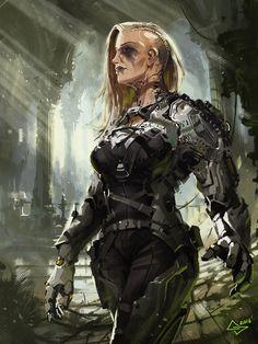 Sister of war, Michał Sztuka on ArtStation at https://www.artstation.com/artwork/nZQAr