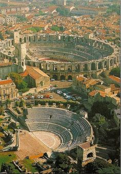 Roman Arenas, Arles, France. Some of the best preserved architecture of the Roman Empire in the world.