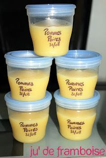 [TuTo] Keep purees and compotes baby … without breaking the bank! Compote Recipe, Baby Cooking, Baby Puree, Homemade Baby Foods, Baby Born, Baby Hacks, Blog, Baby Food Recipes, Food Baby