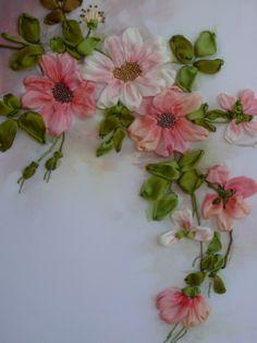 *RIBBON ART ~ Gallery.ru / Sprig - Embroidery ribbons - silkfantasy