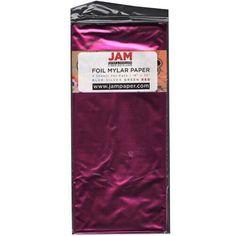 JAM Paper® Tissue Paper - Fuchsia Hot Pink Mylar - 3 Sheets/Pack * For more information, visit image link.