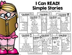 I Can Read Simple Stories!  Kids will build FLUENCY and CONFIDENCE by reading simple stories that include sight words and CVC word family words!