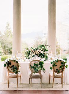 Wedding Table with Greenery | photography by http://holeighvphotography.com/