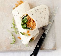 Roll-up, roll-up - snaffle something superhealthy in a flash with these vegetarian wraps, from BBC Good Food magazine.