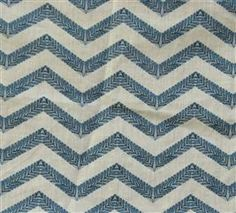 Filigree Chevron in Blue - By the Yard