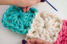 Cómo unir Granny Squares con costura invisible | The Blog