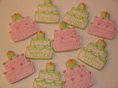 Victoria's first birthday by East Coast Cookies, via Flickr