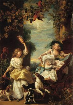 The Athenaeum - The Three Youngest Daughters of George III (John Singleton Copley - 1785)