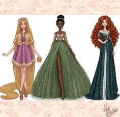 An artist reimagined Disney Princesses in designer outfits, and the results are gorgeous! - Inside the Magic