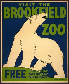 Brookfield Zoo Polar Bear Vintage WPA Poster - Chalk Art İdeas in 2019 The Zoo, Poster Vintage, Vintage Travel Posters, Vintage Prints, Retro Vintage, Wpa Posters, Retro Posters, Brookfield Zoo, Brookfield Illinois