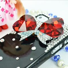 Hot Rhinestone Crystal Diamond Hard Back Cover Case For iPhone 4