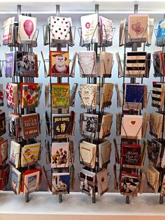 Our greeting card display! Cards for every occasion!