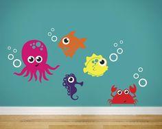 Sea Life Vinyl Wall Decal. $39.00, via Etsy.