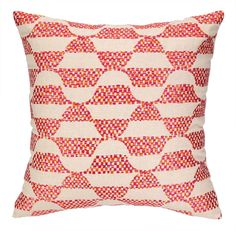 Ventura Embroidered Throw Pillow