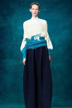 Delpozo - Pre-Fall 2017 | womens fashion | fashion trends | sweater | Polychrome