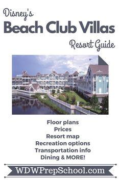 Everything you want to know about Disney's Beach Club Villas Resort: Floor plans, maps, recreational activities, transportation information, + MORE! | #disneyresorts #beachclub #disneyworld