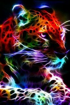 Another fractal! gotta love them big cats. Again i would like to dedicate this fractal to a close friend. Love you babe Fractal Leopard 2 Tier Wallpaper, Animal Wallpaper, Art Tigre, Tiger Art, Lion Art, Modern Cross Stitch Patterns, Fractal Art, Big Cats, Belle Photo