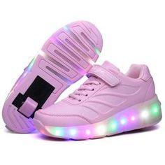 """Nsasy Roller Shoes Girls Roller Skate Shoes Boys Kids LED Light up Wheel Shoes Roller Sneakers Shoes Wheels for Kids for Kids -"" Sneakers With Wheels, High Top Sneakers, Pink Sneakers, Girls Sneakers, Boys Shoes, Light Up Shoes, Lit Shoes, Roller Skate Shoes, Inside Shoes"