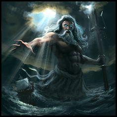 Poseidon - Deus da Mitologia Grega                                                                                                                                                     Mais