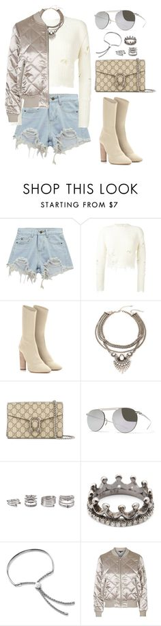 """""""Untitled #691"""" by elipenaserrano ❤ liked on Polyvore featuring Chicnova Fashion, adidas Originals, Forever 21, Gucci, Mykita, Loree Rodkin, Monica Vinader and Topshop"""