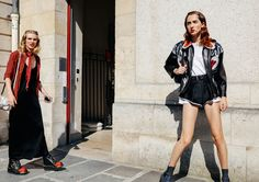 Jess PW in Prada and Teddy Quinlivan in a Miu Miu jacket and Balenciaga shorts