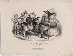 Beggars in action [graphic] / Phillips delt. Published/Created: [London] : Published by Chas. Tilt, 86 Fleet St., [1850?] Physical Description: 1 print : lithograph on wove paper ; sheet 252 x 356 mm. Variant Titles: Cat and dog life, pl. 1