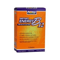 NOW Instant Energy B12 75 Packets | Familypharmacy.gr Personal Care, Foods, Vitamins, Food Food, Food Items, Personal Hygiene
