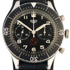 "1967 Heuer Bundeswehr ""Bunds"" Fly-back by Timeline Watch"