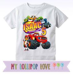 Blaze y la camiseta de cumpleaños de Monster máquinas