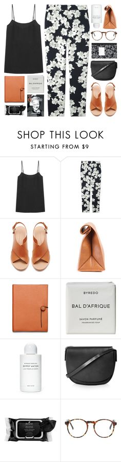 """orchid"" by zarcarla ❤ liked on Polyvore featuring Equipment, Erdem, Loeffler Randall, Coach, Byredo, Topshop, Boscia and Dot & Bo"