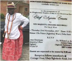 Ayiri Emami to be installed as Ologbotsere of Warri Kingdom