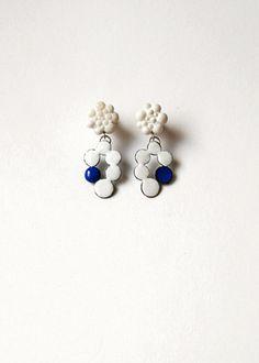 earrings 2012     enamel on copper, mother of pearl, silver