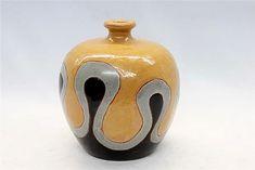 Francés-Deco-Brown-Negro-Wave.vase