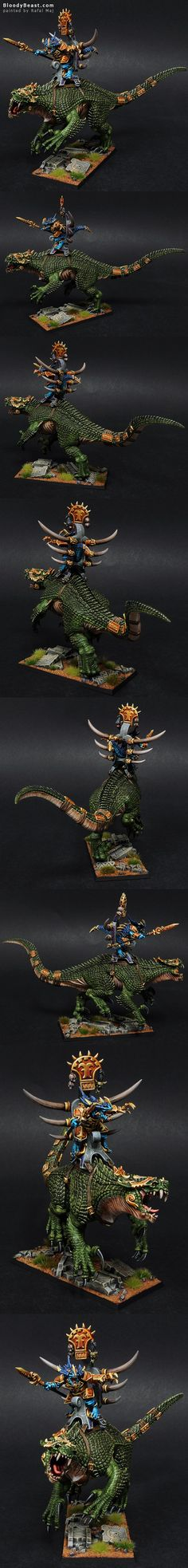 Lizardmen Legendary Saurus Lord Kroq-Gar On Carnosaur Grymloq