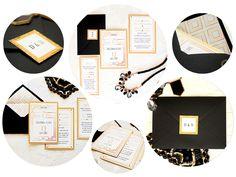 Artirea - zaproszenia ślubne, oryginalne, nietypowe, nowoczesne, dodatki ślubne: Styl lat 20 - eleganckie zaproszenia Great Gatsby w stylu Art Déco