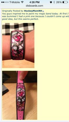Disney Magic Band DIY from disney boards