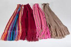 chalinas de alpaca pura tejida en telar