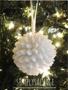 Someday Crafts: Shell Ball Ornament