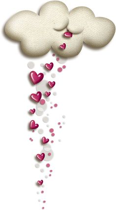 Clouds and hearts Heart Wallpaper, Love Wallpaper, Iphone Wallpaper, Coeur Gif, Emoji Love, Love You Images, Heart Pictures, I Love Heart, Beautiful Gif
