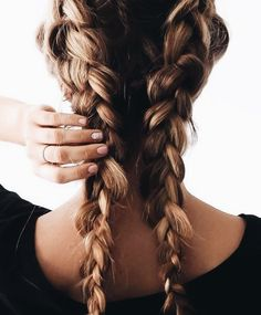 cute little messy braids | double braids, hairstyle, hair inspiration, everyday, bayalage, balayage, easy, diy ideas, casual, minimalist, minimalism, minimal, simplistic, simple, modern, contemporary, classic, classy, chic, girly, fun, clean aesthetic, bright, pursue pretty, style, neutral color palette, inspiration, inspirational, diy ideas, fresh, stylish,