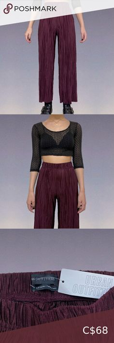 "🦋 URBAN OUTFITTERS Pants 🦋 High-waisted plum/purple pants. Super soft. Textured design. Brand new with original tag. Only worn once for pictures. Marked as an XS, but would fit an XS-M. My measurements for reference: • Height: 5'2"" • Bust: 31"" • Waist: 24"" • Hips: 29.5"" Offers are welcome! Urban Outfitters Pants & Jumpsuits Wide Leg Purple Pants, Poplin Dress, Plum Purple, Plus Fashion, Fashion Tips, Fashion Trends, Texture Design, Flare Pants, Free People Dress"
