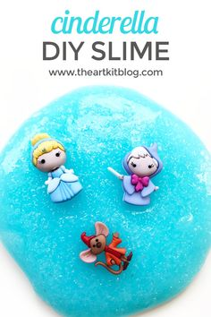 Cinderella Slime {Easy DIY Recipe}. If you have a little one that loves all things Disney or princesses, they will love this magical Cinderella slime. With just a few simple supplies, you'll be able to create your own Cinderella slime activity.  via @theartkit
