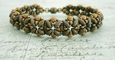 Linda's Crafty Inspirations: Bracelet of the Day: Quick SuperDuo Bracelet - Mocha with free tutorial on Beading Daily