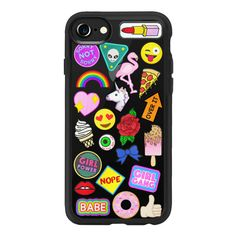 Patch Collection - iPhone 7 Case, iPhone 7 Plus Case, iPhone 7 Cover,... (125 BRL) ❤ liked on Polyvore featuring accessories, tech accessories, phone cases, phone, tech, cases, iphone case, apple iphone case, iphone cover case and iphone cases