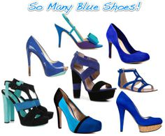 cobalt blue shoes...I love this color this year!