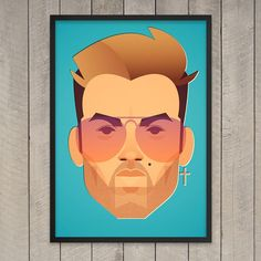 Prints and posters by Stanley Chow Line Drawing, Painting & Drawing, Stanley Chow, George Michael Wham, Matte Satin, Always Love You, Record Producer, Tweety, Giclee Print