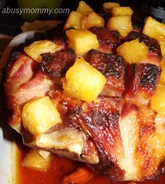 Pineapple Brown Sugar Glazed Ham