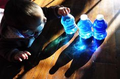 Playing with light and shadow for infants