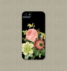 Vintage Floral iPhone 5S Case iPhone 5C iPhone 4S Samsung Galaxy S3 / S4 by JoyMerrymanStore, $28.00